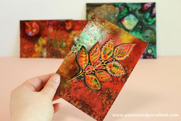 Art Postcards by Peony and Parakeet