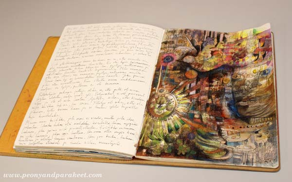 """Introvert"", an art journal page by Peony and Parakeet"