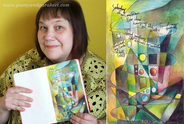 An easy art journal page, instructions by Peony and Parakeet