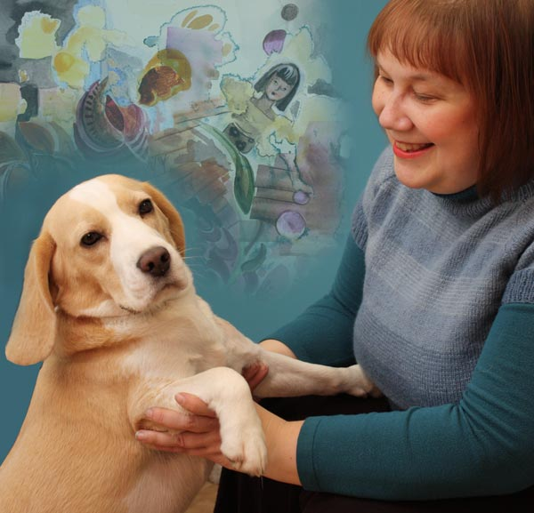 Paivi and her beagle Stella from Peony and Parakeet