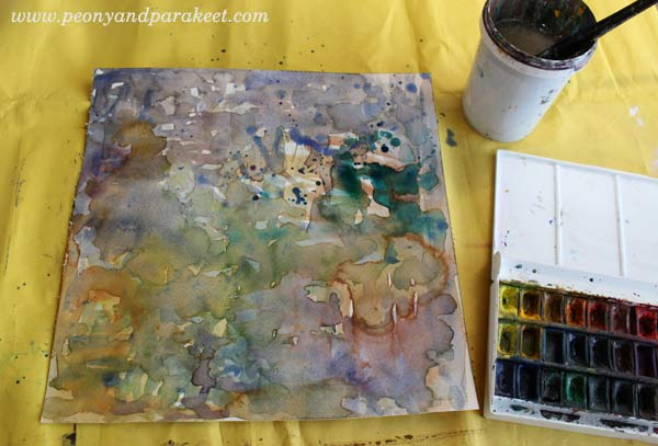 Beginning a painting with watercolors, by Peony and Parakeet