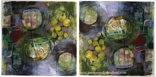 Creating an intuitive painting, by Peony and Parakeet