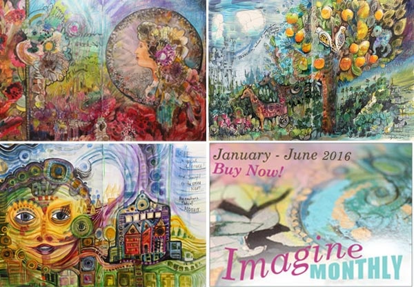 Imagine Monthly Spring 2016, an art class by Peony and Parakeet