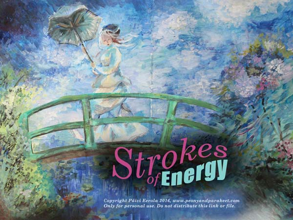Strokes of Energy, an art journaling mini-course inspired by Claude Monet, taught by Paivi Eerola from Peony and Parakeet