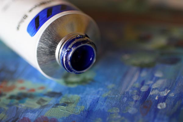 Ultramarine blue is wonderful for Monet style color mixes