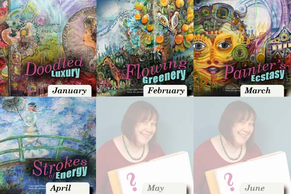 Imagine Monthly - Art journaling mini-courses inspired by world-class art