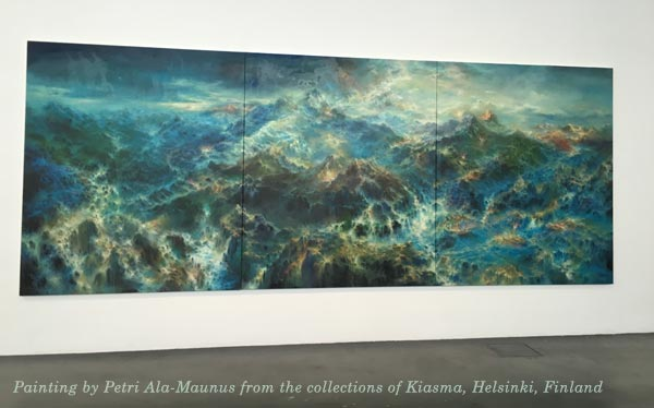 A painting by Petri Ala-Maunus at Kiasma, Finland
