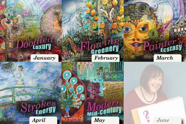 Imagine Monthly, a set of art journaling mini-courses