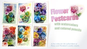 Start your creative freedom with the subscriber-only video Flower Postcards!