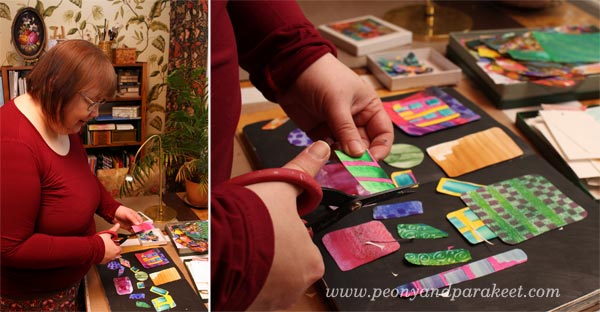 Create Rut Bryk inspired collage! Paivi from Peony and Parakeet shows how!