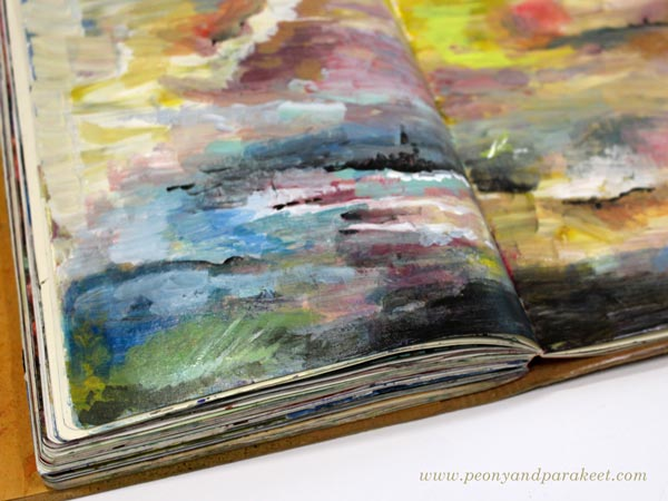 Full art journal by Peony and Parakeet