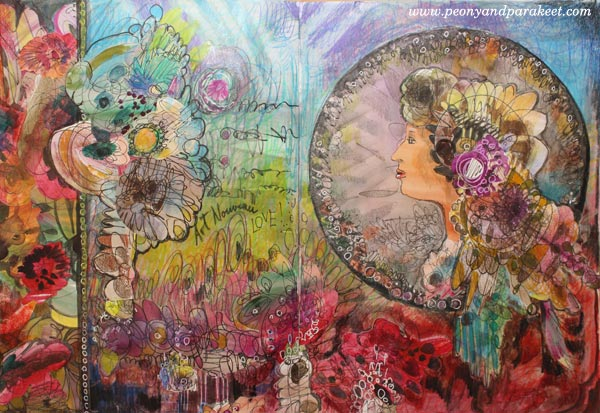 Imagine Monthly Spring 2016, January's mini-course, Doodled Luxury, inspired by Alphonse Mucha