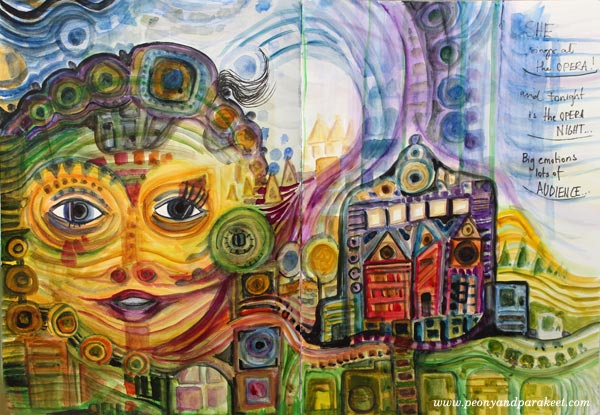 Imagine Monthly Spring 2016, March's mini-course, Painter's Ecstasy, inspired by Hundertwasser