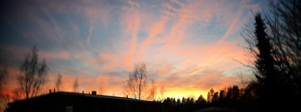 Sunset in Vantaa, Finland