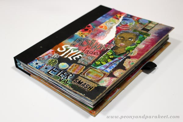 Peony and Parakeet's full art journal. See the art journal flip through video!
