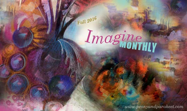 Imagine Monthly Fall 2016, an art journaling master class by Peony and Parakeet