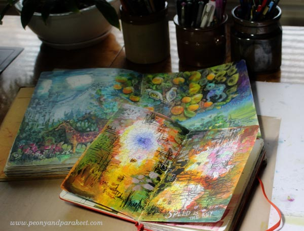 Build intuitive focus! Record your ideas in art journals! By Peony and Parakeet.