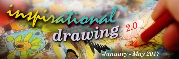 Inspirational Drawing 2.0 - Monthly drawing lessons from January to May! By Peony and Parakeet