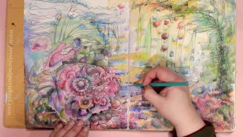 Inspirational Drawing 2.0, an online art class for you who says you can't draw. By Paivi Eerola from Peony and Parakeet.