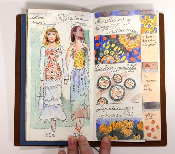 Midori Traveler's Notebook spread by Peony and Parakeet. See her ideas in a video too!