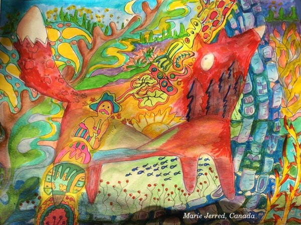 Marie Jerred, Canada. Student Artwork from the mini-course Drawing Factory.