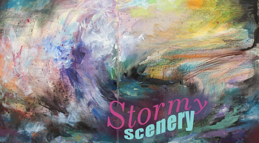 Connect with your creative energy and create mixed media seascapes in the class Stormy Scenery.