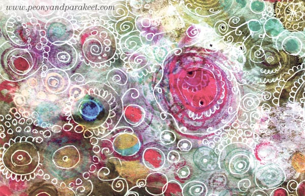 Mixed media circles, by Peony and Parakeet. Read the blog post to move on creating more than just circles!