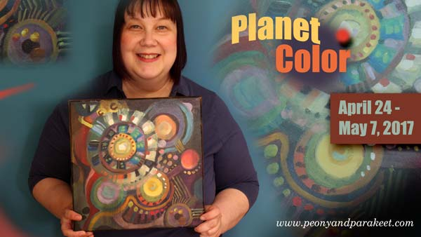 Planet Color, an online workshop for abstract color fun. By Peony and Parakeet.
