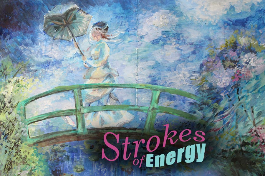 Strokes of Energe - an art journaling mini-course for you who wants to paint like Monet. By Peony and Parakeet.