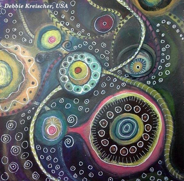 Student artwork from the class Planet Color. Debbie Kreischer, USA.