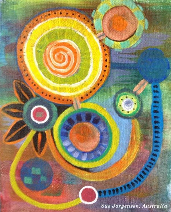 Student artwork from the class Planet Color. Sue Jorgensen, Australia.