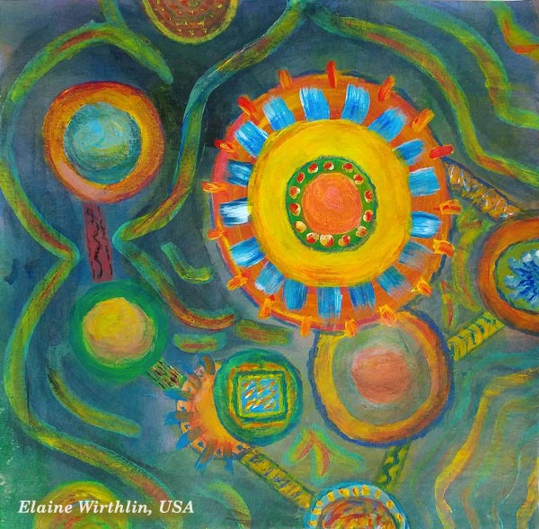 Student artwork from the class Planet Color. Elaine Wirthlin, USA.