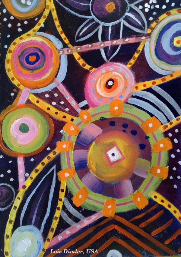 Student artwork from the class Planet Color. Lois Dimler, USA.