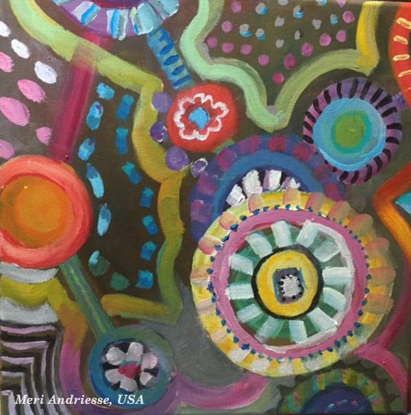 Student artwork from the class Planet Color. Meri Andriesse, USA.