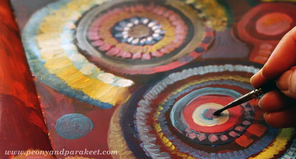 Colorful mandalas by Paivi Eerola from Peony and Parakeet. Read 4 social tips she has about creating art!
