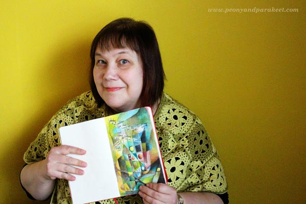 Paivi from Peony and Parakeet with her art journal.