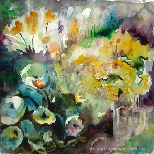 Easter Flowers in Watercolor by Paivi Eerola from Peony and Parakeet. See her blog post for painting easter still lifes!