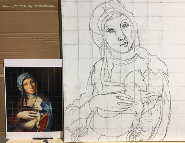 Making of a Gypsy Madonna using old masters painting techniques, by Paivi Eerola from Peony and Parakeet