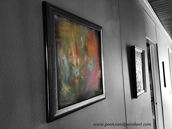Paintings on the wall. By Paivi Eerola from Peony and Parakeet.