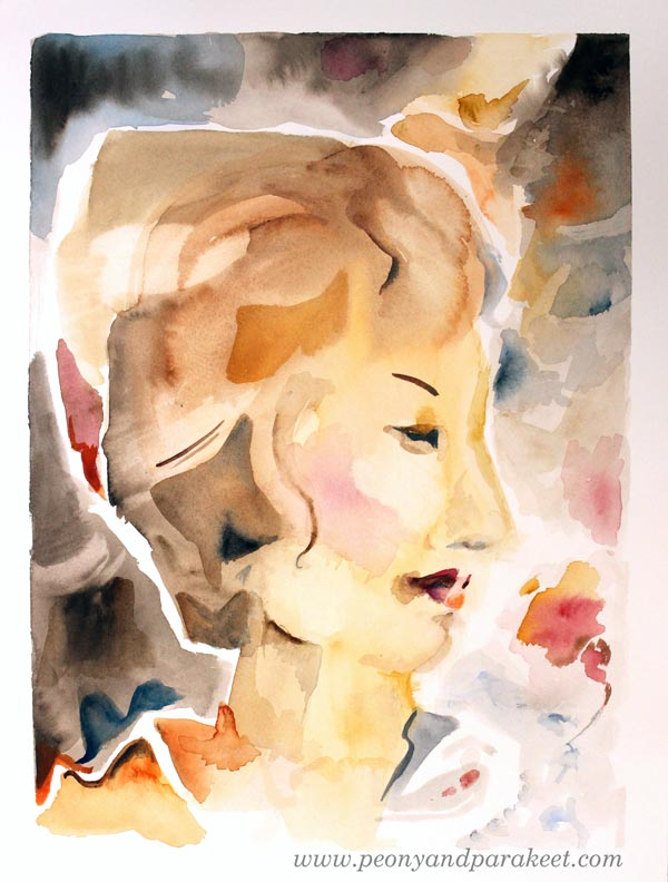 The Modern Woman, a watercolor painting by Peony and Parakeet.