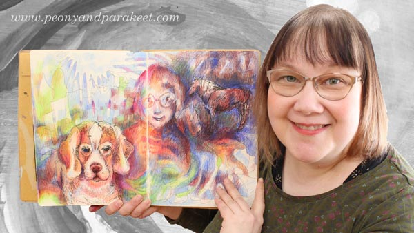 A Finnish visual artist Paivi Eerola from Peony and Parakeet and her art journal.
