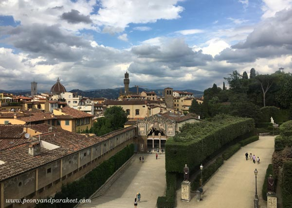 A view from Palazzo Pitti, Florence, Italy
