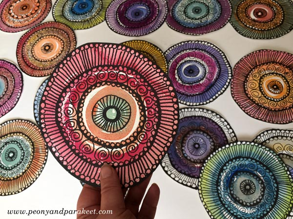 Handdrawn Paper Doilies by Peony and Parakeet