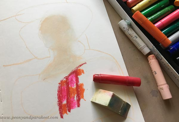 Tips for using Faber-Castell gelatos by Paivi Eerola from Peony and Parakeet