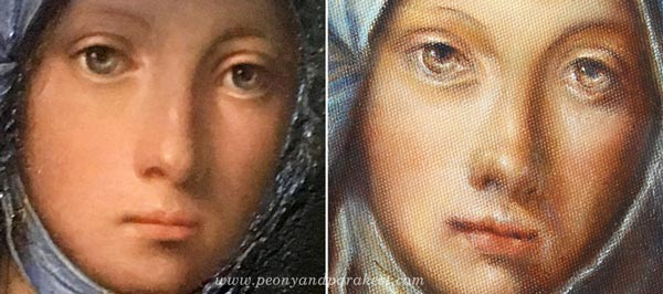 Boccaccino's Gypsy Girl and Paivi's version, by Boccaccio Boccaccino and Paivi Eerola