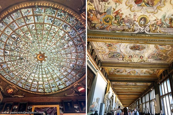 Uffizi Gallery, ceilings