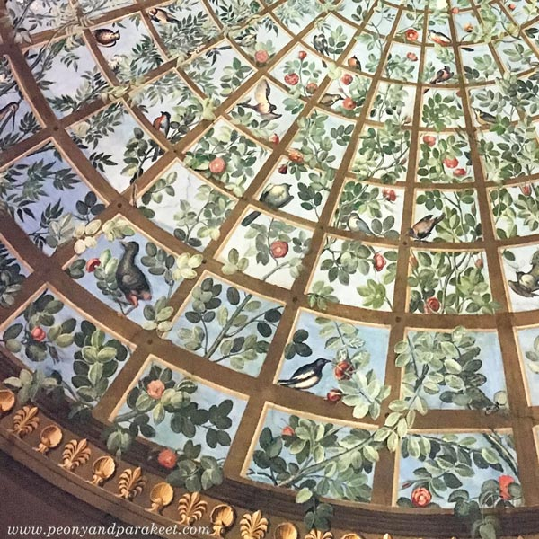 A painted ceiling at The Uffizi Gallery, Italy, Florence