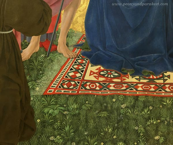 Alesso Baldovinetti, Cafaggiolo Altarpiece, c. 1453, a detail