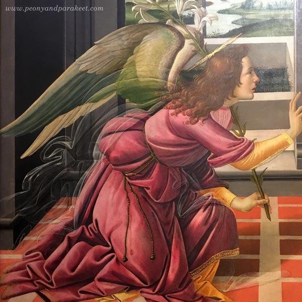 Sandro Botticelli: The Cestello Annunciation, a detail