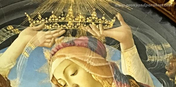 A detail of Sandro Botticelli's Madonna of the Magnificat, c. 1483